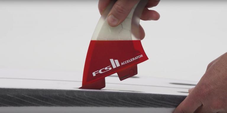 FCS II PERFORMER NEO GLASS TRI FIN SET TEAL GRADIENT