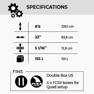 GONG SUPFOIL 8'6 MOB 2TASTE 155 FSP