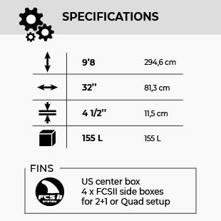 GONG SUP 9'8 KARMEN 155 FSP