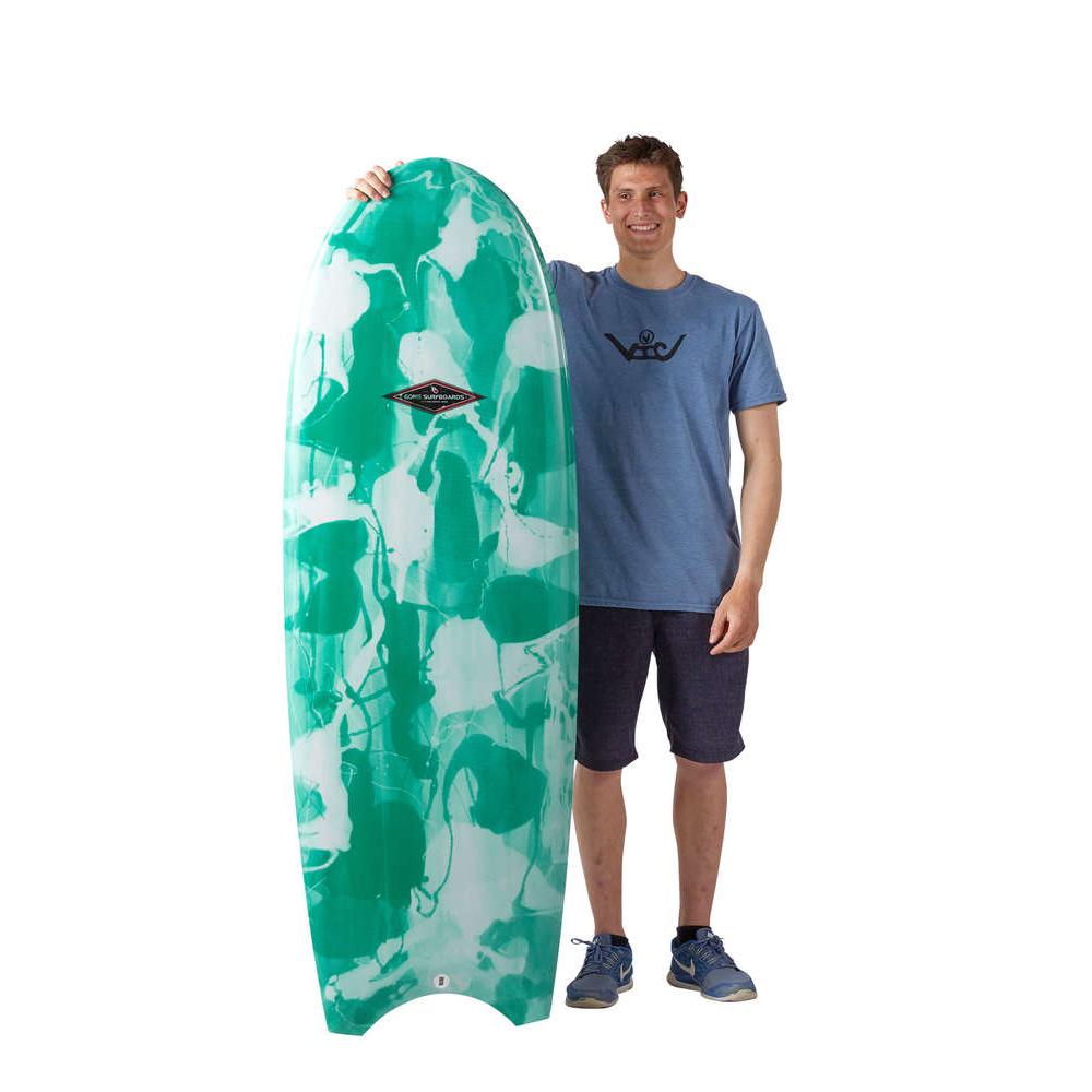 planche surf 5'3 matata simone PU Green Moon