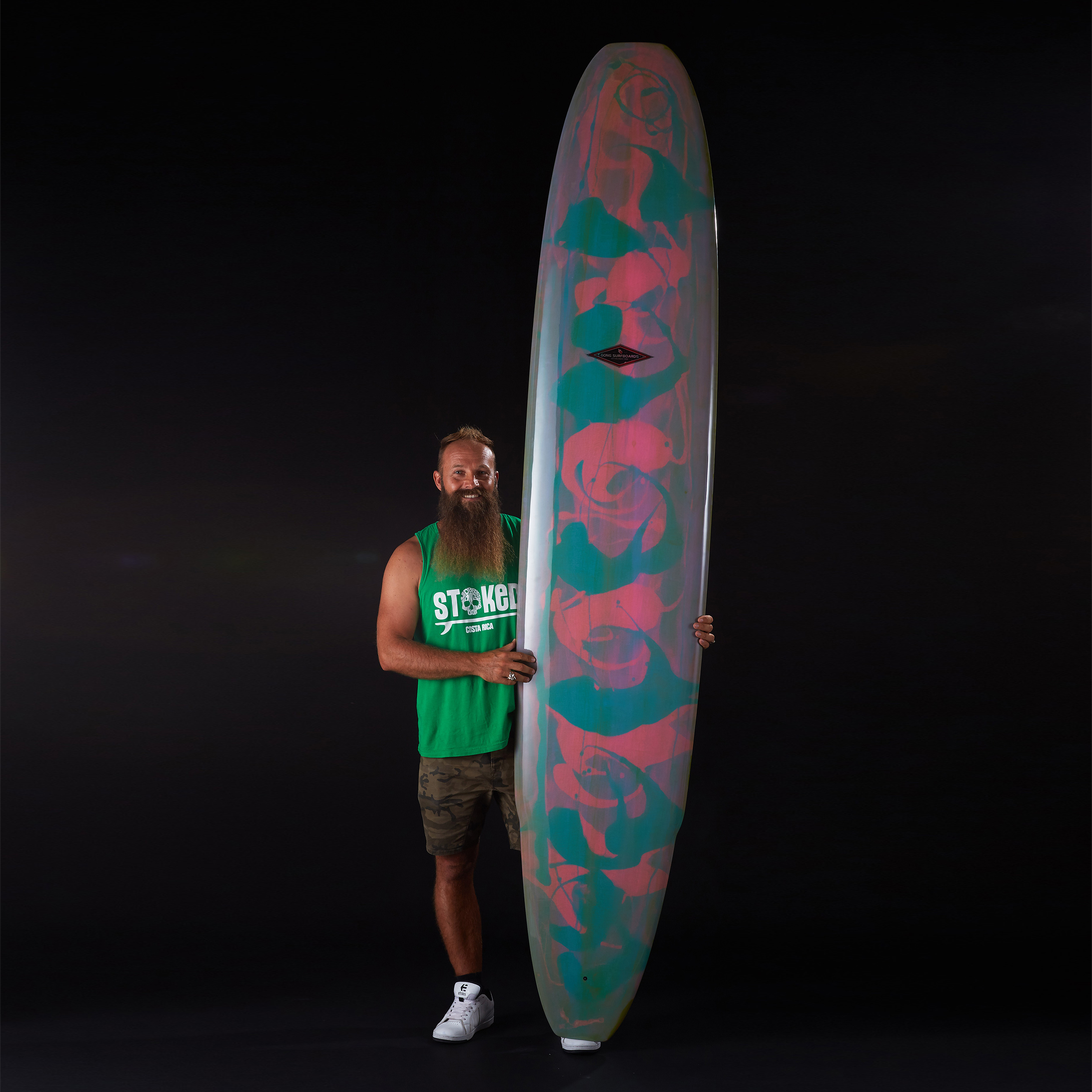 planche surf 9'8 incredible pink PU