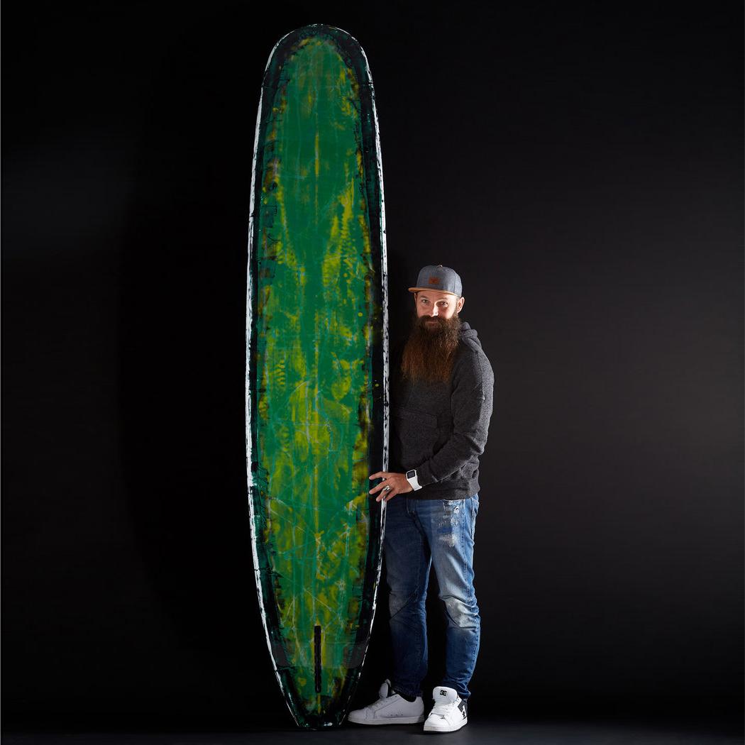 planche surf 9'6 Pampa trash PU