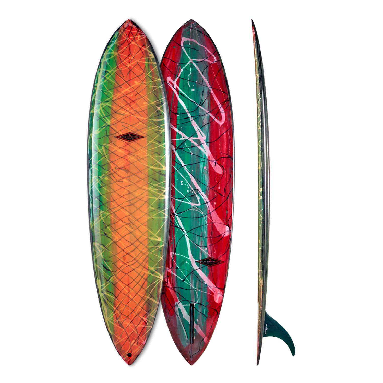 Planche surf 7'8 Carter PU Black String