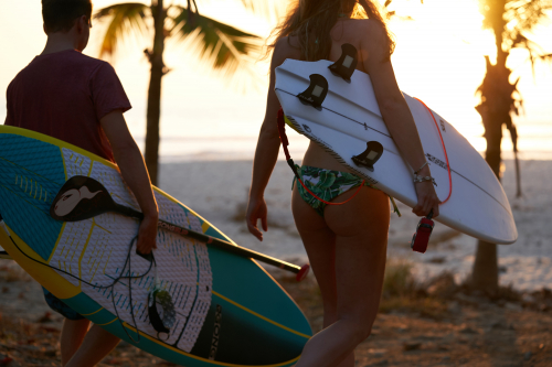 plage SUP et surf sunset