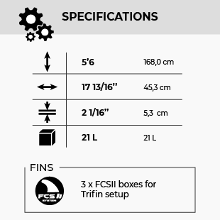 GONG KITEBOARD 5'6 LETHAL FSP