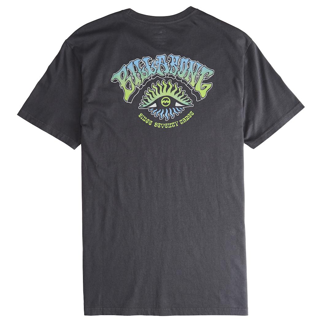 BILLABONG ICONIC TEE - ASPHALT - Tee-shirts